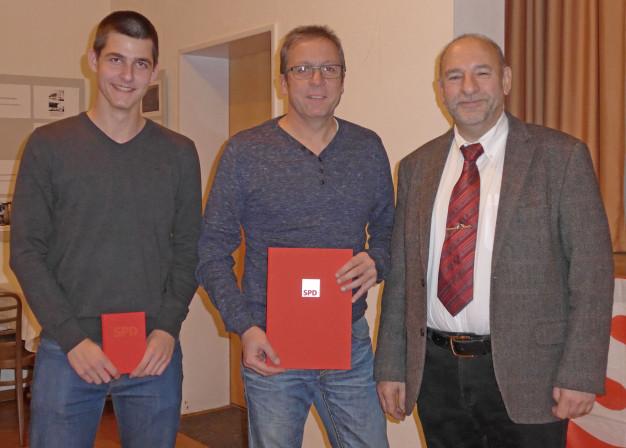 Neumitglied Felix Heckl und Uwe Beyer (15 Jahre Mitgliedschaft)