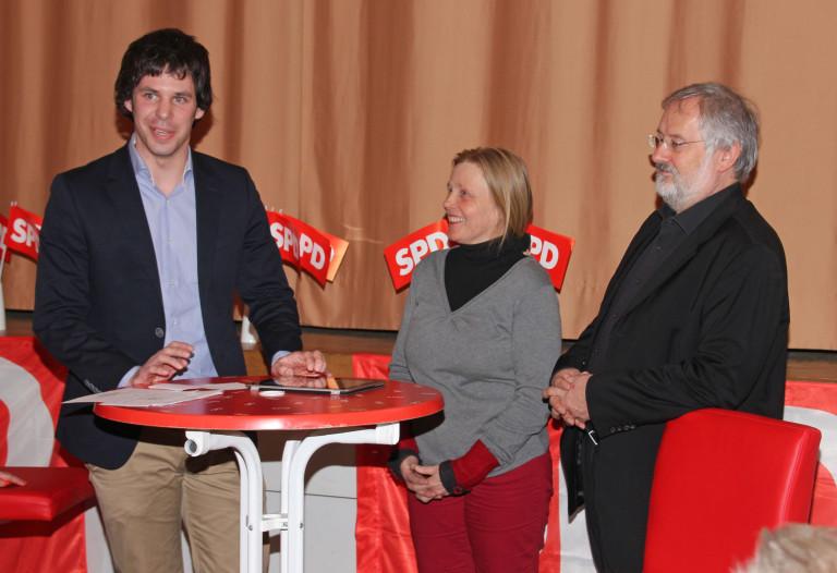 Sven Erhard, Christian Nürnberger und Ursula Klobe
