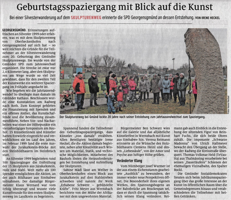 Pressebericht Sklulpturenweg